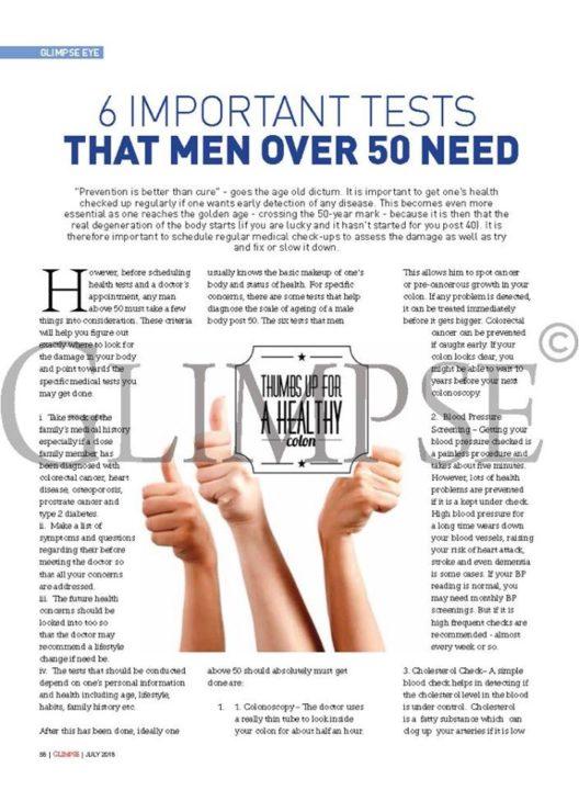 Six imp tests for men over 60 - pg 1