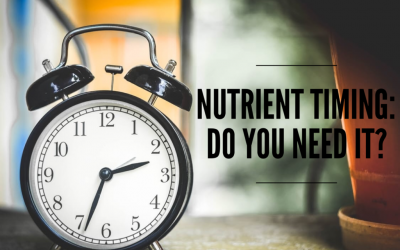 Timing Of Macro-Nutrients For Endurance Athletes